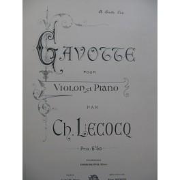 LECOCQ Charles Gavotte Violon Piano