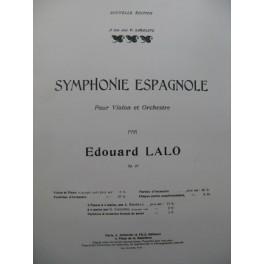 LALO Edouard Symphonie Espagnole op 21 Piano Violon 1908