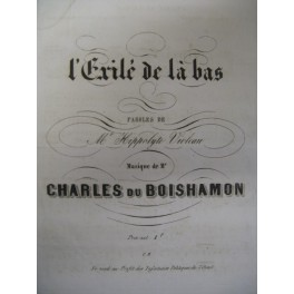 DU BOISHAMON Charles L'exilé de là bas