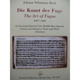 BACH J. S. Die Kunst der Fuge pour 4 Contrebasses 1998