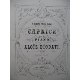 DIODATI Aloïs Recueil de Pièces pour Piano XIXe