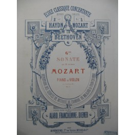MOZART W. A. Sonate No 6 Violon Piano 1866