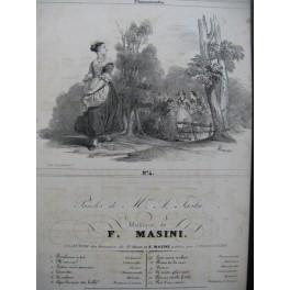 MASINI F. Laurette Chant Guitare ca1830
