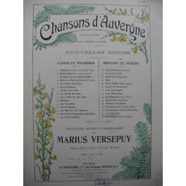VERSEPUY Marius Chanson d'Auvergne Les Boeufs Chant Piano 1907