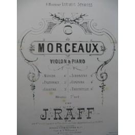 RAFF Joachim Cavatine Piano Violon ou Violoncelle ca1870