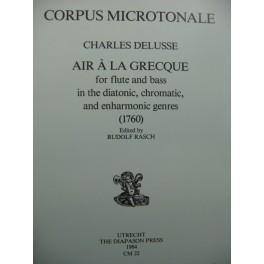 DELUSSE Charles Air à la Grecque Piano Flûte 1984