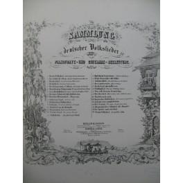 Volkslied aus dem Thüringer Wald Chant Piano ca1852