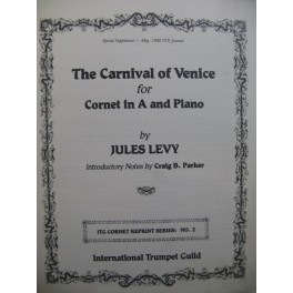 LEVY Jules The Carnival of Venice Piano Cornet
