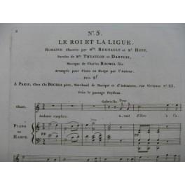 BOCHSA N. Ch. Le Roi et la Ligue No 5 Chant Piano ou Harpe 1815