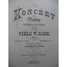 GADE Niels W. Koncert op 56 Piano Violon ca1885