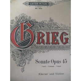 GRIEG Edvard Sonate Op. 45 violon piano