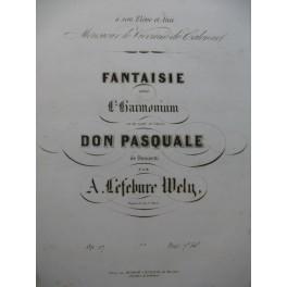 LEFÉBURE-WÉLY Fantaisie sur Don Pasquale de Donizetti Harmonium ca1850