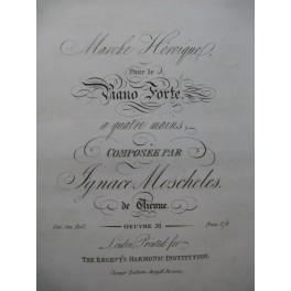 MOSCHELES Ignace Marche Héroïque Piano 4 mains XIXe