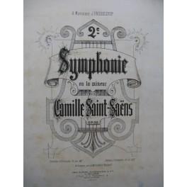 SAINT-SAËNS Camille Symphonie No 2 Piano 4 mains 1878