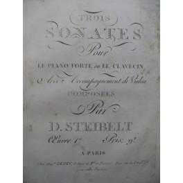STEIBELT Daniel Trois Sonates op 1 Clavecin ou Piano ca1800