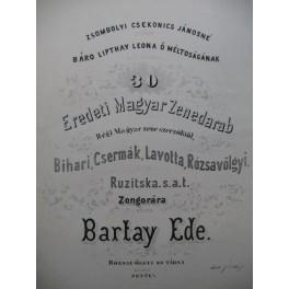 EDE Bartay 30 Eredeti Magyar Zenedarab Pièces Hongroises Piano XIXe