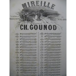 GOUNOD Charles Mireille No 4 Chant Piano 1864