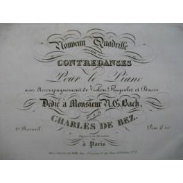 DE BEZ Charles Nouveau Quadrille Piano XIXe siècle