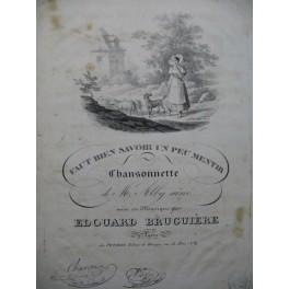 BRUGUIÈRE Edouard Faut bien savoir un peu mentir Chant Piano ou Harpe ca1830