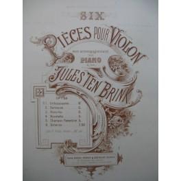 TEN BRINK Jules Enthousiasme Violon Piano ca1886