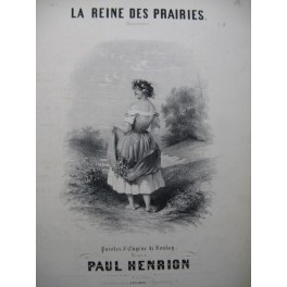 HENRION Paul La Reine des Prairies Chant Piano ca1850