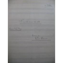 DÉRIVIS Louis Si mes Vers avaient des Ailes Manuscrit Chant Piano