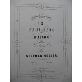 HELLER Stephen 6 Feuillets d'Album Piano 1854