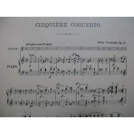 VIEUXTEMPS Henri Concerto No 5 Violon Piano
