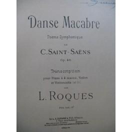 SAINT-SAËNS Camille Danse Macabre Piano 4 mains Violon Violoncelle