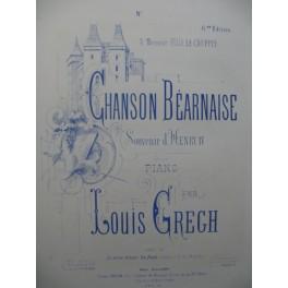 PERIER Em. Chanson Béarnaise Piano Violon 1874