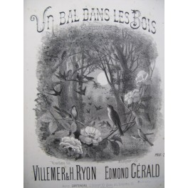 GÉRALD Edmond Un bal dans les Bois Chant Piano XIXe