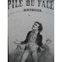BANEUX Gustave Pile ou Face Chant Guitare XIXe