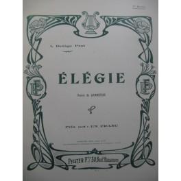 DELÂGE-PRAT I. Élégie Mélodie Chant Piano