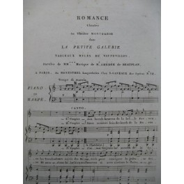 DE BEAUPLAN Amédée Romance La Petite Galerie Chant Piano ou Harpe ca1820
