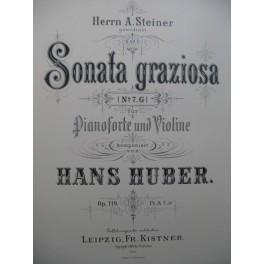 HUBER Hans Sonata Graziosa op 119 Piano Violon 1903