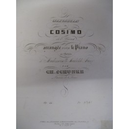 SCHUNKE Charles Saltarelle de Cosimo piano 1838