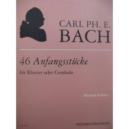 BACH C. P. E. 46 Anfangsstücke Piano ou Clavecin