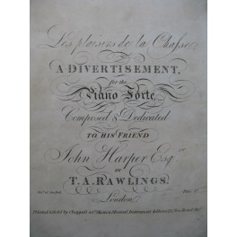 RAWLINGS T. A. A. Divertissement Piano ca1820
