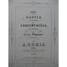 WEBER Andante Marcia et Finale Concert-Stück 2 Pianos 4 mains 1854