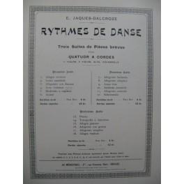 JAQUES-DALCROZE E. Rythmes de Danse Suite No 1 Quatuor Violon Alto Violoncelle 1922