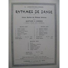 JAQUES-DALCROZE E. Rythmes de Danse Suite No 2 Quatuor Violon Alto Violoncelle 1922