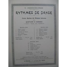 JAQUES-DALCROZE E. Rythmes de Danse Suite No 3 Quatuor Violon Alto Violoncelle 1922