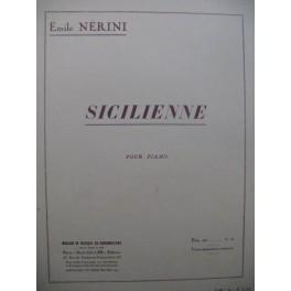 NERINI Emile Sicilienne Piano 1929
