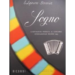 LEJEUNE-BONNIER Eliane Sogno Accordéon 1954
