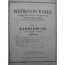 BEETHOVEN Quintett op 4 2 Violons 2 Altos Violoncelle XIXe