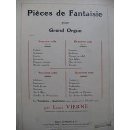 VIERNE Louis Pièces de Fantaisie 2e Suite Orgue 1927