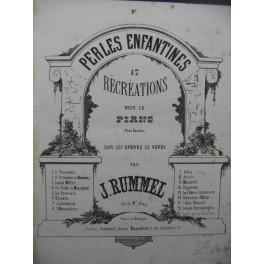 RUMMEL Joseph Perles Enfantines La Traviata Piano ca1860