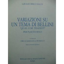 BRICCIALDI Giulio Variazioni su un Tema di Bellini Flûte 1987
