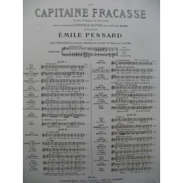 PESSARD Emile Le Capitaine Fracasse No 11 Chant Piano 1880