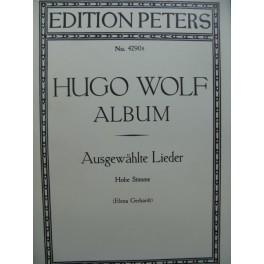 WOLF Hugo Album Ausgewählte Lieder Chant Piano